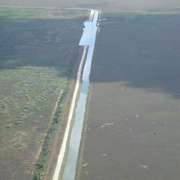 North to south photo of S332 and levee removal on eastern boundary of L31