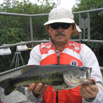 Bill Loftus with a bass at Rookery Branch