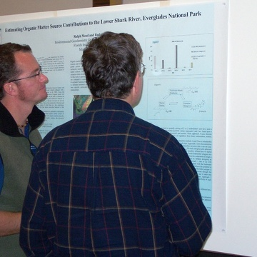 Ralph Mead presenting his poster at the 2003 Florida Coastal Everglades LTER All Scientists Meeting