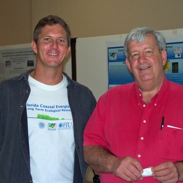 Dan Childers (FCE LTER Lead PI) and Bruce Hayden (External Advisor to the FCE LTER) at the 2003 Florida Coastal Everglades LTER All Scientists Meeting